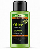 Olive oil shampoo sample from Toronto