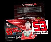 Бесплатные наклейки и открытки от автогонщика Zachary Tinkle from Petropavl