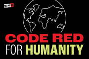 """Get your free """"Code Red for Humanity"""" sticker! from Los Angeles"""