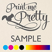Free Sample of fabric printed (Print me pretty) from London